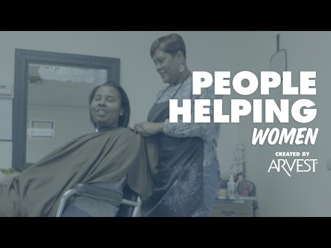 Sonya Jones Styles Hair for Women in Need – People Helping People Created by Arvest Bank