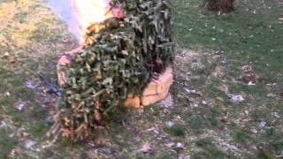 Smiley Christmas Tree Burn 2012