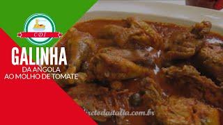 Receita Natalina - Galinha da Angola ao molho de tomate - Culinaria da Italia