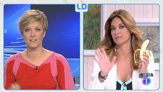 Mariló Montero se come un plátano en directo para apoyar a Dani Alves