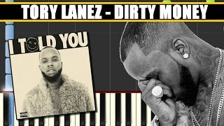 DIRTY MONEY (Tory Lanez || I TOLD YOU) Piano Tutorial / Cover SYNTHESIA + MIDI File