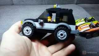 Лего Сити 60058 Внедорожник с катером