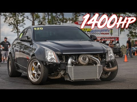 1400HP Cadillac CTSV With HUGE 88MM TURBO Gettin' Rowdy!