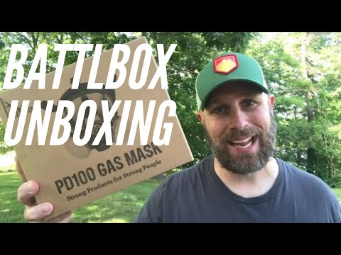 BattlBox Unboxing: Mission 78 - Gas Mask, Knife, Neck Light, Emergency Food 🥘 and More