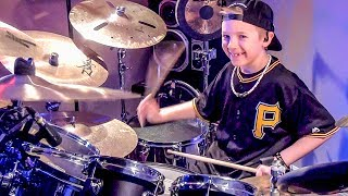 Fight for Your Right (Drum Cover) 8 year old Drummer, Avery Drummer Molek