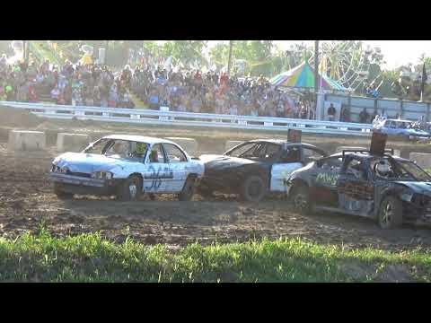 Arenac County Fair 2018 Gut'n' Go Demolition Derby heat (8-3-18)
