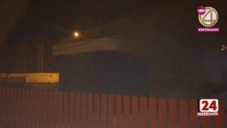 На Уфимской сгорела будка охраника