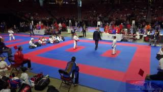 2017 USA Karate National Championships : 8 Yr Old Intermediate Kumite Final Jonal