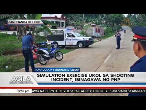 Simulation exercise ukol sa shooting incident, isinagawa sa Zamboanga Del Sur