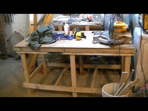 Easy Workbench DIY, Cheap to make and very strong