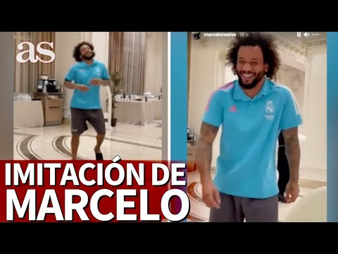 ¿Por quién iría? Marcelo desata las risas de Vinicius, Casemiro y Militao con esta imitación