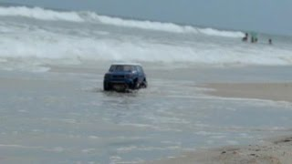 High Volts RC - Tamiya CC-01 Beach Bashing in the Salt water