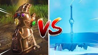 INFINITY BLADE VS INFINITY GAUNTLET!! (Who Wins?) Fortnite Battle Royale