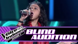 Qyra - The Spirit Carries On | Blind Auditions | The Voice Kids Indonesia Season 3 GTV 2018 width=