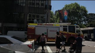 MULTIPLE FRNSW Responding to in TRAFFIC and on Scene at AFA on Castlereagh St!