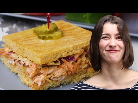 How To Make Sheet-Pan BBQ Cornbread Sandwich With Alexis ? Tasty