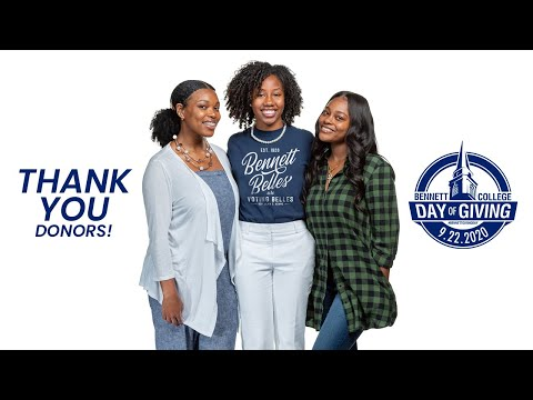 Bennett Belles thank donors for supporting Bennett College Giving Day #BennettGivingDay