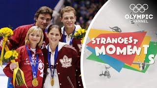 Figure Skating Scandal Dominates at the Salt Lake City 2002 Olympics | Strangest Moments