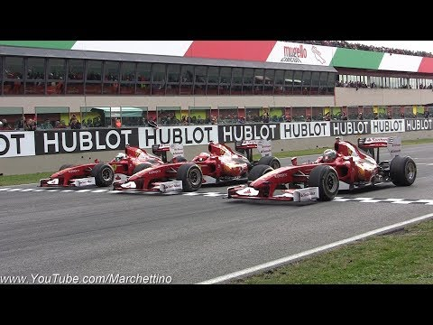 The Ultimate Formula 1 Trackday - Pure F1 Sounds & Action!