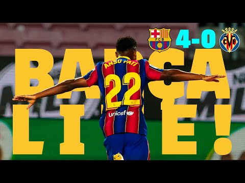 🔥 ANSU SCORES TWO IN FOUR MINUTES 🔥 | BARÇA LIVE | Barça 4 - 0 Villarreal | WARM UP & MATCH CENTER