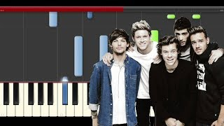 One Direction What A Feeling Piano Midi Tutorial Cover sheet karaoke partitura Made In The AM