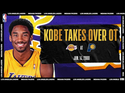2000 #NBAFinals Game 4: Kobe's OT heroics lift LAL | Lakers @ Pacers | #NBATogetherLive #20HoopClass