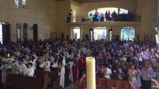 Pai Nosso com as crianças da Eucaristia da Paróquia Imaculada Conceição