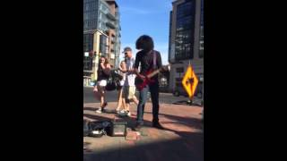 Dragonforce - Through the Fire and Flames (Street Performance)