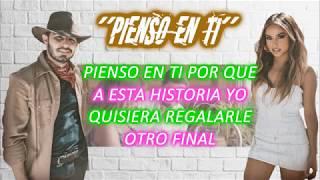 Joss Favela, Becky G - Pienso en Ti (Video Lyrics)