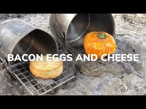 Campfire Cooking Made Easy - Omelette Stuffed Bell Pepper
