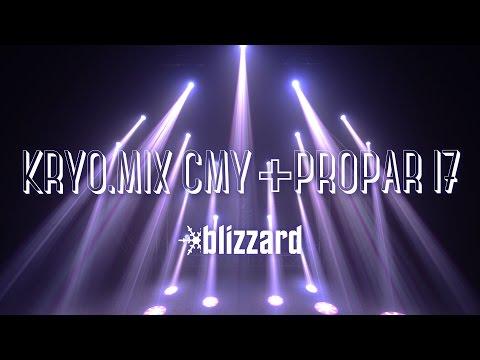 Blizzard Lighting's Kryo.Mix™ CMY + ProPar™ I7 Single Shot Show