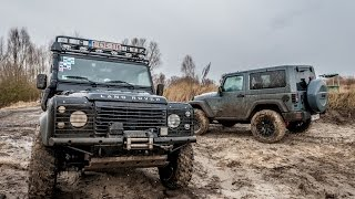 Extreme Offroad with Defender and Wrangler Rubicon