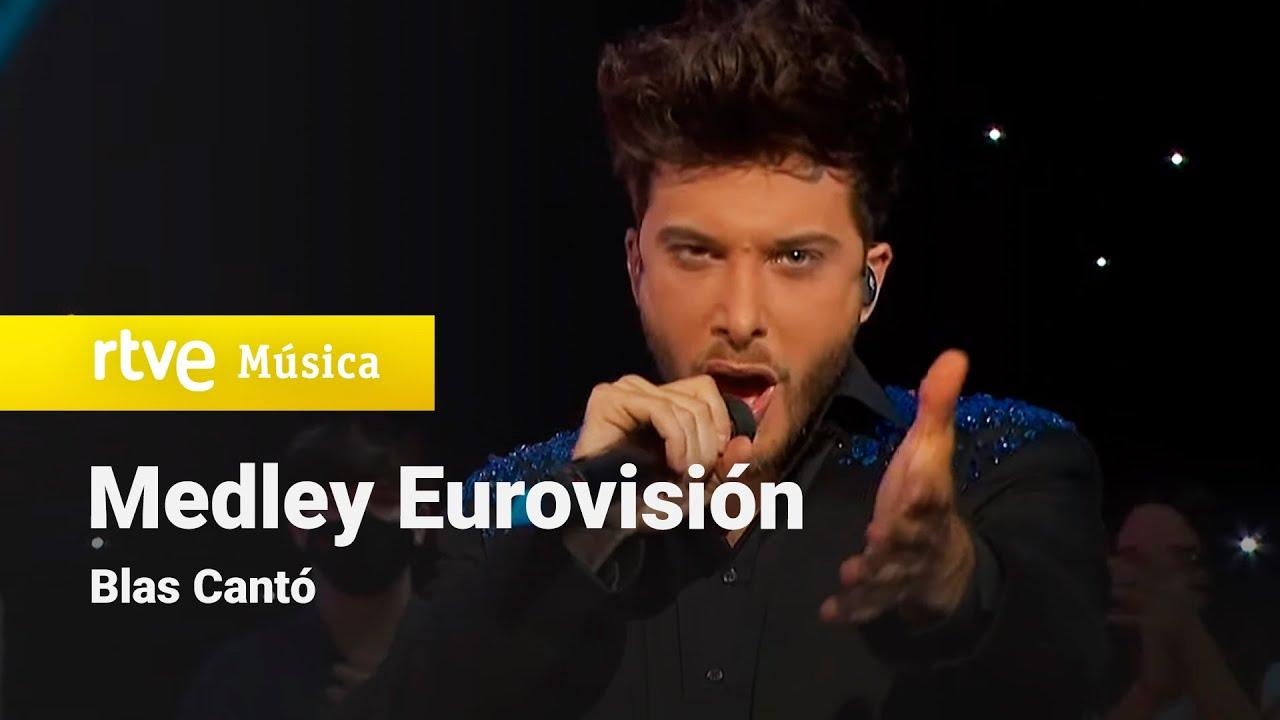 Así sonó el medley con el que Blas Cantó homenajeó Eurovisión en la final española
