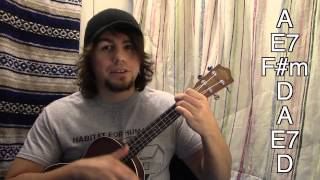 How to play wagon wheel on ukulele the easy way