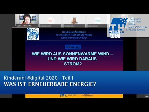 TH Wildau Kinderuni #digital 2020: Was ist erneuerbare Energie?