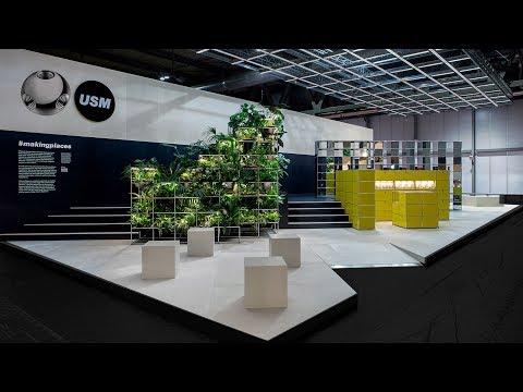 USM and UNStudio Milan design week booth | Dezeen