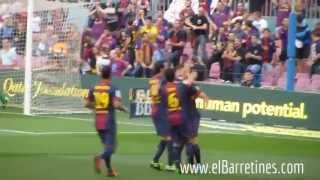 Gooool ( 1-0 ) de Villa al al 3' + aplaudiments.. serà l'ùltim al Barça ?? /Barça 4-Malaga 1
