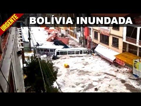 Clima do Fim dos Tempos: Temporal e Granizo varrem tudo pela frente na Bolívia