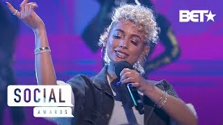 DaniLeigh Upgrades the 2019 BET Social Awards Stage with Lil Bebe Performance   Social Awards 2019