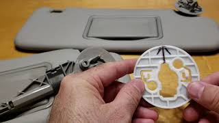 Sun Visor Removal on 2012 Chevy Sonic