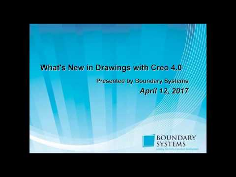 What's New in Drawings with Creo 4 0