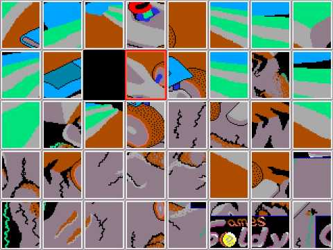 Flashy Cars (Goldy Games 1992) - PC DOS (EGA) - Puzzle