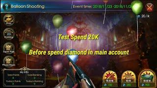 SPEND 20K DIAMOND BALLOON SHOOT || LEGACY OF DISCORD