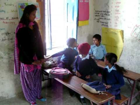 Nepal Laxmi Primary School room