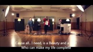 """Beauty And A Beat"" - (Justin Bieber) cover lyrics + Chords collab by Alex Goot and friends"