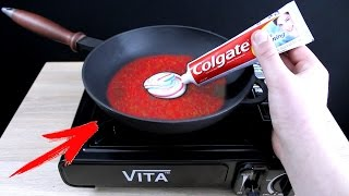 EXPERIMENT What Happen if You Drop Toothpaste into HOT PAN