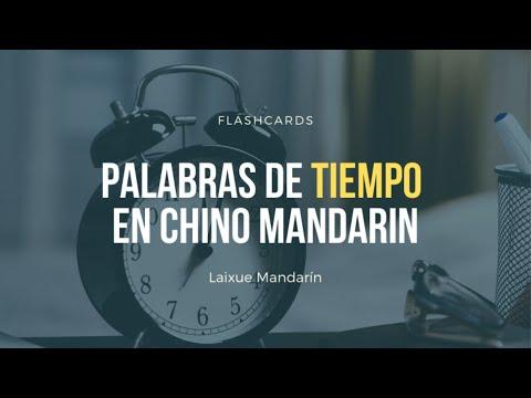 Palabras para expresar tiempo en chino mandarín