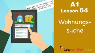 Learn German | A1 - Lesson 64 | Wohnungssuche | Apartment - hunting