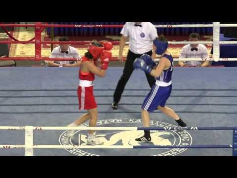 Kazakhstan women's boxing championships 2016, final, 57 kg