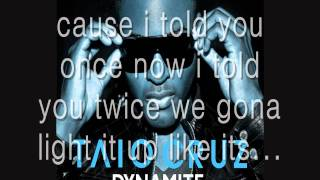 Taio Cruz - Dynamite (Lyrics) [1080p HD]